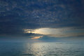 Dramatic Tropical Sunset Sky And Sea At Dusk Stock Photo - 35926840