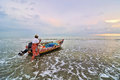 Fishermen Ready To Go To The Sea At The Morning. Royalty Free Stock Image - 35928206