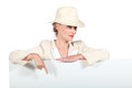 Woman Wearing A Hat Royalty Free Stock Photography - 35928447