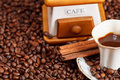 Cup Of Coffee And Roasted Beans Royalty Free Stock Image - 35949686