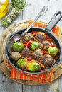 Meatballs With Vegetables In Tomato Sauce Stock Photography - 35950712