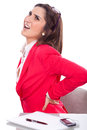 Young Woman With Back Pain Stock Images - 35950834