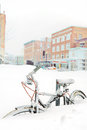 Bike Buried In Snow Stock Photography - 35952602