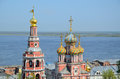 Russian Church On Volga River Royalty Free Stock Photography - 35953127