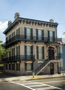 Historical Savannah Georgia Corner House Stock Photos - 35956093