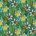 Vintage Pattern With Daffodils Or Narcissus. Royalty Free Stock Photos - 35958478