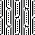 Pattern With Horses Royalty Free Stock Images - 35964069