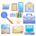 Business Set With Different Stuff For Work Royalty Free Stock Images - 35968089