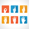 Hands Make Number Zero To Five Royalty Free Stock Image - 35968886