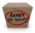Ready To Ship Cardboard Box Mailing Package Order In Stock Stock Photos - 35971703