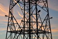 Silhouette Of A Steel Tower Royalty Free Stock Images - 35973829