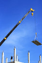 Worker Working  With Crane Royalty Free Stock Photo - 35982825