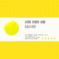 Vector Card With Watercolour Circle In Yellow Royalty Free Stock Image - 35987266
