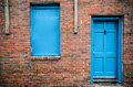 Blue Door And Windows, Brick Building, Treme, New Orleans Stock Image - 36006351