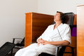 Young Man Relaxing In Spa With Music Stock Images - 36008294