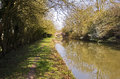 Spring With Wild Plum Blossom On The Grand Union Canal At Yelvertoft Cover, Northamptonshire Royalty Free Stock Photography - 36008837