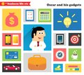 Business Gadgets And Stuff Royalty Free Stock Photo - 36011015