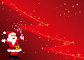 Christmas Background With Santa Claus And Tree Royalty Free Stock Photo - 36011595