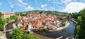 Panorama Of The Historical Part Of Cesky Krumlov With Castle And Stock Image - 36014671