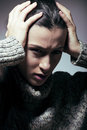 Young Pretty Woman In Trouble, Screaming In Grief Stock Images - 36015424