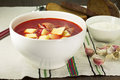 Ukrainian And Russian National Red Borsch Stock Images - 36024114