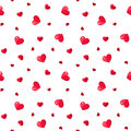 Seamless Pattern With Red Hearts. Royalty Free Stock Photo - 36031585