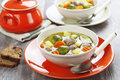 Soup With Meatballs And Brussels Sprouts Stock Image - 36035701