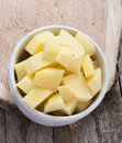 Cut Raw Potatoes In Bowl Royalty Free Stock Images - 36042179