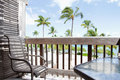Tropical View From Deck, Lanai Royalty Free Stock Photography - 36044927