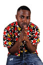 Black Man Praying. Royalty Free Stock Image - 36048606