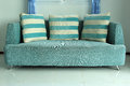 Sofa And Pillows Furniture Stock Images - 36055134