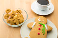Gingerbread Cookies And Coffee Royalty Free Stock Images - 36055559