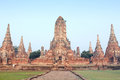Ruin Brick Temple In Ayutthaya, Thailand Stock Photography - 36057442