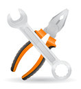 Tools Spanner And Pliers Icons Vector Illustration Stock Image - 36068381