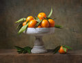 Vintage Still Life With Tangerines Royalty Free Stock Photo - 36071385