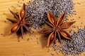 Star Anise And Poppy Seeds Stock Photos - 36078473