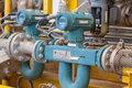 Flow Meter For Measure Oil , Liquid And Gas In The System Royalty Free Stock Photography - 36082917