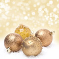 Christmas Balls And Background With Bokeh Royalty Free Stock Image - 36084276