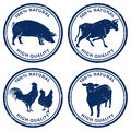 Quality Meat Stamps Royalty Free Stock Photos - 36086898