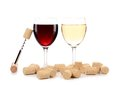 Two Wine Glasses Composition. Stock Photos - 36087413