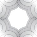 Abstract Grey Paper Circles Vector Background Stock Image - 36096641