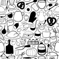 Vector Kitchen Seamless Pattern Royalty Free Stock Images - 36098319