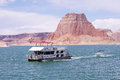 Boat Floating In Lake Powell, Utah Royalty Free Stock Photo - 36099525