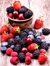 Tasty Summer Fruits On A Wooden Table Stock Images - 36101164