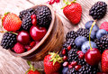 Tasty Summer Fruits On A Wooden Table Royalty Free Stock Photos - 36101478