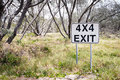 4X4 Exit Track Sign Royalty Free Stock Photo - 36108115