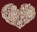 Vector Vintage Lace Heart Stock Photography - 36110482