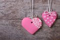 Two Pink Hearts Sweet Cookies Royalty Free Stock Photography - 36117037
