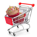 Cupcakes In A Shopping Cart Royalty Free Stock Images - 36117989