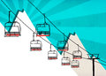 Chairlift Winter Sport Background Stock Image - 36130091